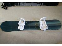 Burton snowboard 66'' (bullet 69) + bindings + bag