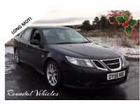 2008 SAAB 9-3 TTiD Vector Sport 180 bhp Twin turbo diesel, Black, sports int, Long Mot, FSH 2 keys !