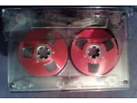 7 x C60 Retro 1980's style Pink Reel to Reel BLANK CASSETTE TAPES w/cases. SPECIAL EDITION