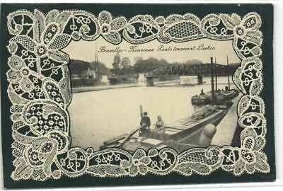 1 postkaart Laeken bruggen draaien van Laken 1912