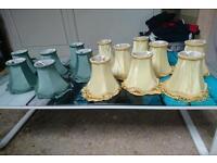 Set of 14 vintage lampshades