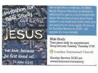 English Bible Study in London