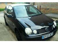 2003 VW POLO 1.2 3DR 11MONTHS MOT BLACK