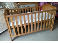 Excellent condition john Lewis Cotbed Converts To JUNIOR BED WITH EXCELLENT CONDITION MATTRESS £45
