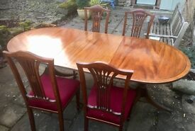 Reproduction Dining Table with additional leaf seats 8