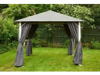 Glendale Vintage Grey Gazebo 3M X 3M Model Nos: GL1228 new unopened + FREE delivery in N.West