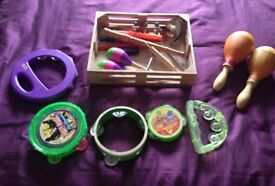 Box of musical instruments