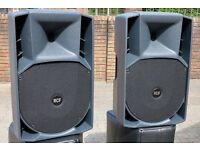 RCF ART 735 Active Speakers Pair including live in RCF Covers 9 months old excellent condition