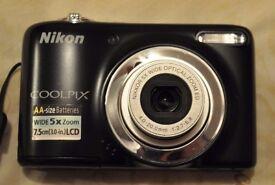 NIKON Coolpix L25 boxed excellent condition + free Apple IPOD nano 2th gen 2GB