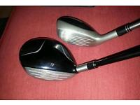Taylormade 3 wood & Taylormade TP Rescue