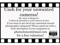 Cash for your unwanted Cameras!