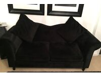 Black 2 seater french style sofa
