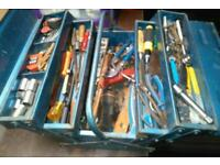 Halfords cantilever tool box and tools