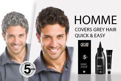 Haarfarbe für Männer in 5 Min. Anti Grau Tönung  Grauhaarabdeckung 4 Farbvar.