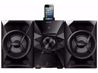 Sony (130W) Mini CD/FM Radio Hi-Fi System with Lightning Connector Dock (Black) MHCEC619IP RRP=£165
