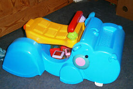 Fisher Price Sit In Hungrey Hippo move along toy Lovely Condition