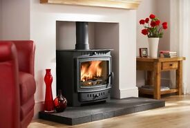 UK MADE VILLAGER ESPRIT 8 KW MULTI FUEL STOVE STUNNING STOVE NEVER USED BARGAIN PRICE £799.99