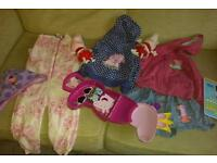 Peppa pig bundle of toys and clothes 12 months to 2 years