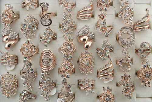 Wholesale Mixed Lots 20pcs Clear Filled rhinestone Jewelry Women lady