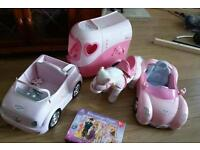 Baby born car, Jeep, horse and horse trailer plus tangled jigsaw