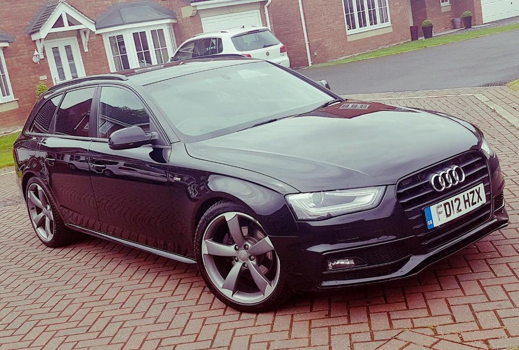 2012 audi a4 avant 2 0 tdi s line black edition 150bhp. Black Bedroom Furniture Sets. Home Design Ideas