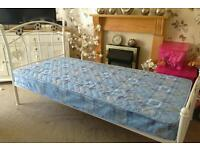 Like new john Lewis SINGLE bed with unused mattress been in spare room £50