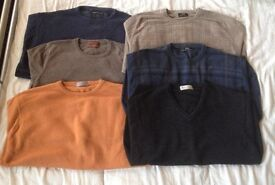"6x large size jumpers , 41-43"" , from Marks + Spencers , all used but as good as new"