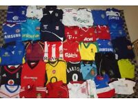 Job Lot of FOOTBALL SHIRTS / Sports Tops Soccer Jersey Bundle NFL / Cricket etc MIX OF CLOTHES