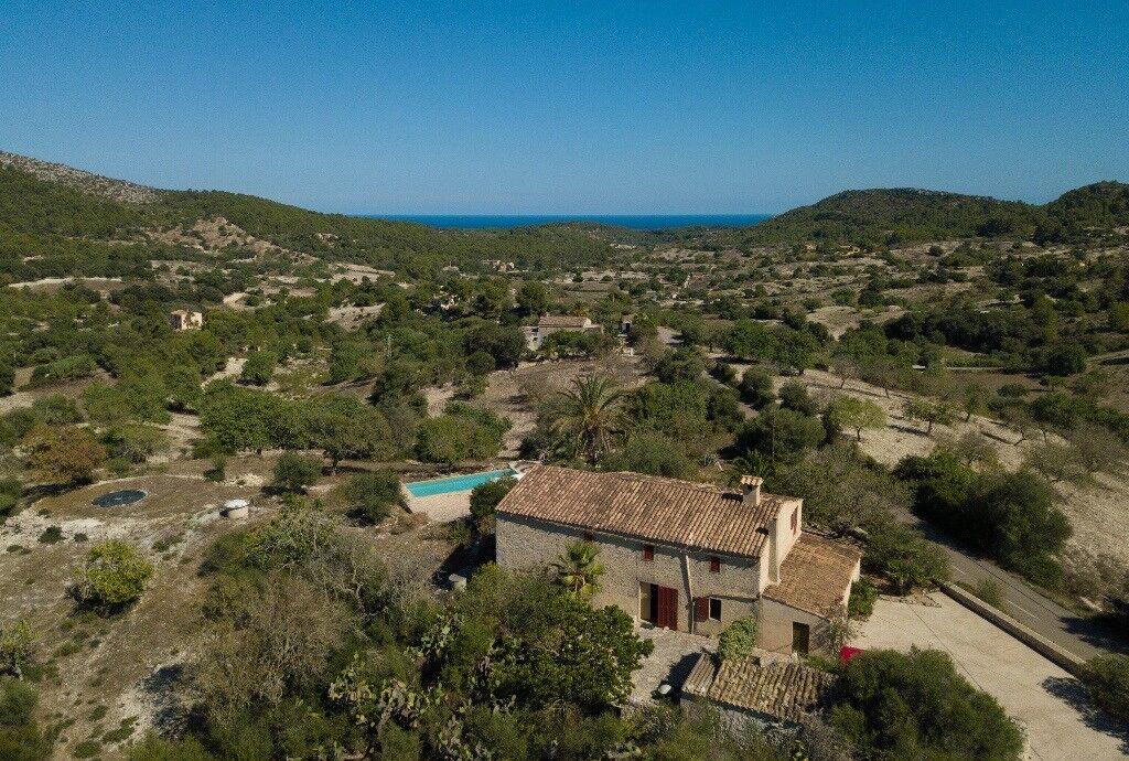 Spanish Finca Natural Stone Estate on Majorca, Seaview, Pool