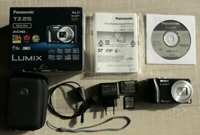 Panasonic LUMIX DMC-TZ25/DMC-ZS15 12.1MP Digitalkamera - Schwarz
