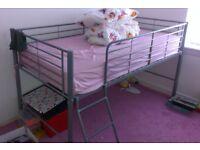 Silver Metal Framed Mid Seeper Single Bed