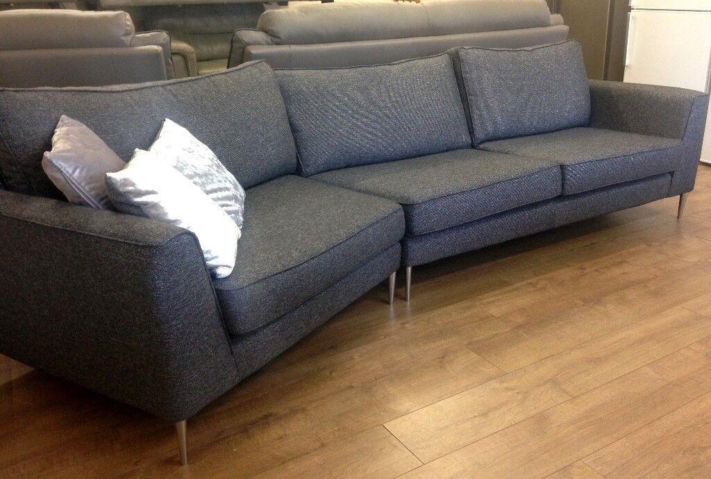 Remarkable Reduced Glittery Fabric 4 Seater Designer Curved Sofa In Alvaston Derbyshire Gumtree Machost Co Dining Chair Design Ideas Machostcouk
