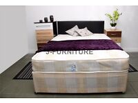 "GUARANTEED DISCOUNTED PRICE == DOUBLE DIVAN BASE WITH MEDIUM FIRM 9"" DEEP MATTRESS & FREE DELIVERY"