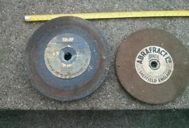 2 X large Grinding/ abrevesive wheels