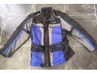 MOTORCYCLE JACKET SPADA BLUE/BLACK VERY GOOD ORDER W/[PROOF ARMOUR ETC USED ONLY £20
