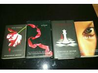 Book 2, 3 and 4 from the Twilight series and The Host