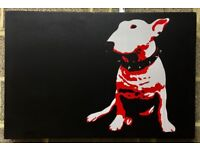 English Bull Terrier Dog Art Canvas Painting Picture Furniture