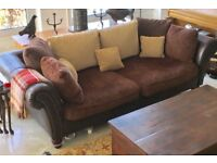 Buffalo Sofa with Matching Large Footstool