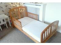 TWO IDENTICAL BEDS Excellent condition JOHN Lewis baby weavers junior bed with unused mattress £45