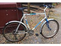 "Vintage Peugeot Laser 15 speed mountain bike, 26"" wheels, large 23"" frame, spares or repair"
