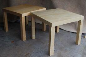 2 IKEA Lack Side Tables