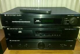Cambridge Audio hifi separates system, CD deck, amp, tuner, speakers