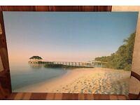 Sunny Beach Pier Printed Painting
