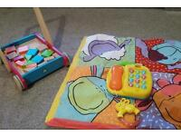 ***Walker, mat, play&grow phone and rattle***