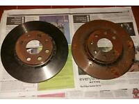 vauxhall corsa b front brake discs vented pair