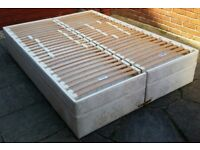Dunlopillo double divan bed, splits into two singles. High quality product. In very good condition