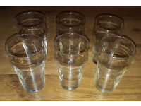6 Half Pint Beer Glasses
