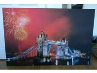 WOODEN CANVAS - LONDON BRIDGE - LARGE