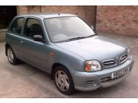 NISSANNISSAN MICRA 1.0S 2002 (02), 42000 MILES FROM NEW, FULL SERVICE HISTORY, DRIVES LIKE NEW.
