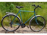 """Raleigh Pioneer Classic men's hybrid / town bike, large 23.5"""" frame, 10 gears, 700c wheels, rack"""